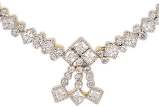 Silverwala Silver Cubic Zirconia Rodium Plated Necklace