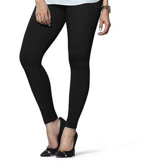 k18plus Women's Ankle Length Leggings - Black