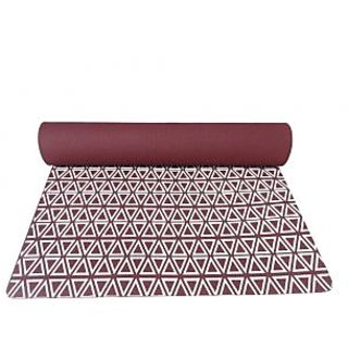Gravolite 7 Mm Thickness 2.5 Feet Wide 6 Feet Length Triangle Print Design Cherry Yoga Mat