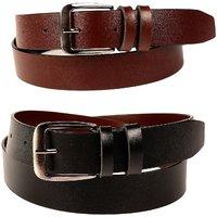 Fedrigo Fux Leather Black  Brown Men'S Belts Combo DNA-FMB-1021