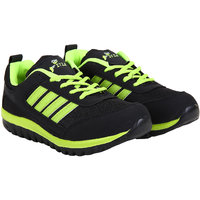 Fitze Sports Shoes For Men Made By Mesh Textile And Eva Sole Black