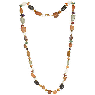 Satyamani Multi-Colour Multi Tumble Chips Necklace 1