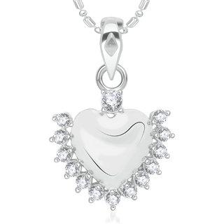 Vk Jewels Radiant Heart Valentine  Alloy Pendant For Women  Girls-  P2002R Vkp2002R