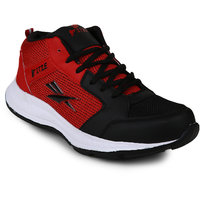 Fitze Mens Black & Red Running Shoes