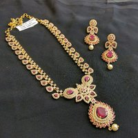 Kundan Work Gold Plated Necklace Set For Women
