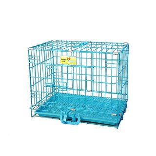Lakhubhai Dog and Rabbit Cage Sky Blue With Removable  - 18 Inces