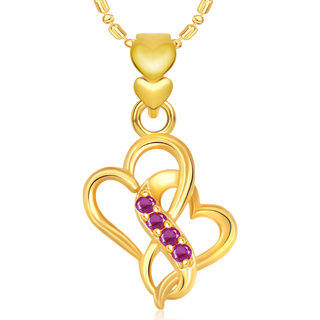 Vk Jewels Well Crafted Heart Valentine Gold And  Pendant -  P1908G Vkp1908G
