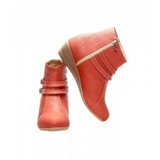 CATBIRD Women Peach Stylish Casual Boots E30-52