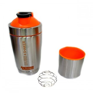 Jaycoknit Dubblin Sporty Movers Shakers Duro Steel Gym Protein Shaker