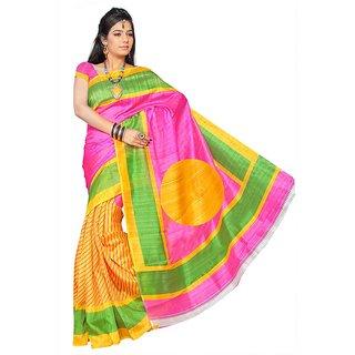 SnapshopeeWinning Multicolour bhagalpuri printed silk sarees (MultiBGL-26)