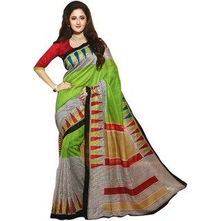 Snapshopee Splendid Multicolour bhagalpuri printed silk sarees(MultiBGL-29)