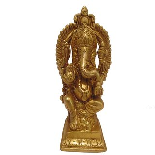 Divine Gods Lord Shree Ganesha brass statue and Idol - 14.5 cms