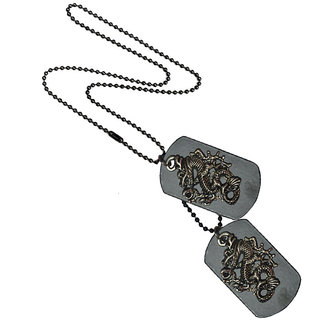 Men Style 2016 New Fashion Dragon  Silver  Alloy Dog Tag Pendent For Men And Women