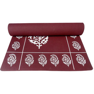 Gravolite 5Mm Thickness 2.1 Feet Wide 6.5 Feet Length Cherry Floral Yoga Mat With Strap Carry Bag