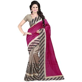 Snapshopee Lovely Multicolour bhagalpuri printed silk sarees (MultiBGL-18)