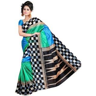 Snapshopee Pretty Multicolour bhagalpuri printed silk sarees (MultiBGL-22)