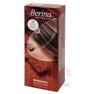 Berina Hair Color Cream A5 Medium Golden Brown - 60gm