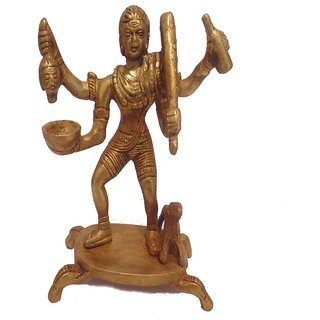 Divine Gods Lord Bhairavnath brass statue and Idol - 14.5 cms