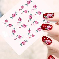 Looks United 10 Sheets Mix Design Stickers For Nail Art And Nail Tip Decoration