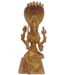 Divine Gods Lord Mahalakshmi brass statue and Idol - 17.4 cms