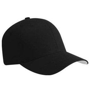 3e58b61df2d Buy SAIFPRO Solid Black Hats For Sports Tennis Cool Trendy Cap ...