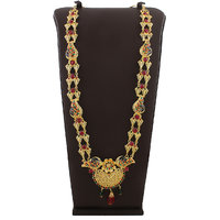 Anuradha Art Exclusively Design This Multy Colour Necklace For Your Ganpati Murti