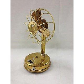 Home brass Fan (10cm x 18cm, Golden)