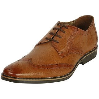 Bacca Bucci Men Tan Leather Fromal Shoes