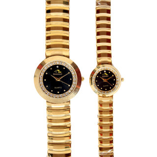 Bromstad Analog IPG Gold Plating Couple Watch (655 P-B)
