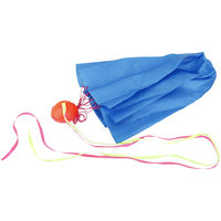 Imported 65cm Tangle-Free Mini Parachute Sky Flying Kid Outdoor Funny Toy Gifts Blue