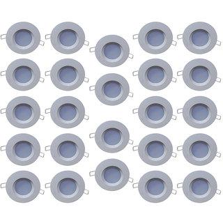 Bene LED 3w PP Round Ceiling Light, Color of LED Red (Pack of 24 Pcs)