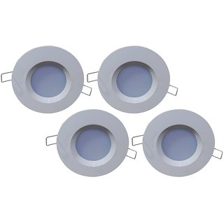 Bene LED 3w PP Round Ceiling Light, Color of LED Blue (Pack of 4 Pcs)