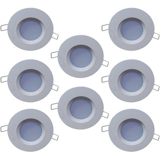 Bene LED 3w PP Round Ceiling Light, Color of LED Warm White (Yellow) (Pack of 8 Pcs)