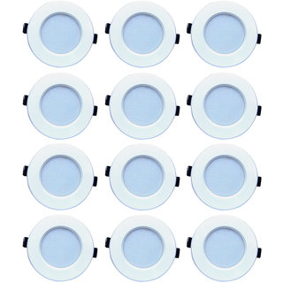 Bene LED 6w Luster  Round Ceiling Light, Color of LED Red (Pack of 12 Pcs)