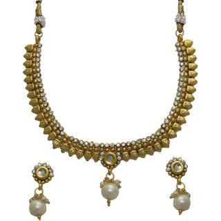 LA TRENDZ  Designer Kundan Rajwadi Necklace Set For Women
