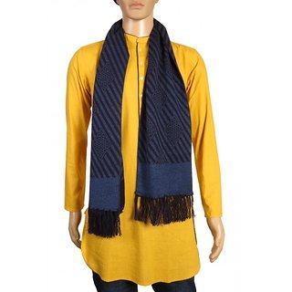 Modo Vivendi High Quality Winter Soft Woolen Fashionable Muffler For Men ( Blue )