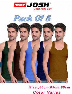Dixcy Josh Mens multicolor vest RN (set of 5 pc)