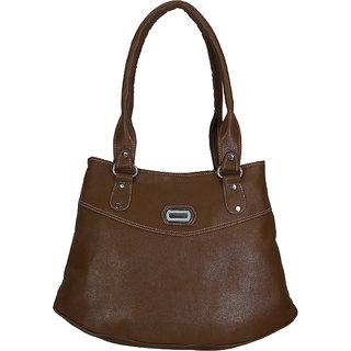 Badru Brown Color Leather Women Sholder Bag (BDU09)