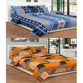 ShopSince Cotton Double Bedsheet Set of 2 - COTTONBS010033