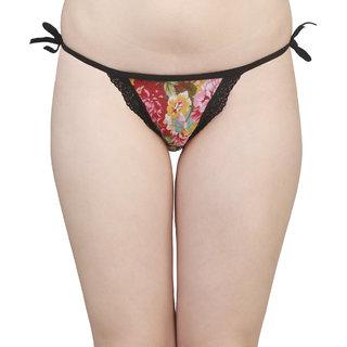 TIMI Multicoloured Hip Hugger Jacquard Cotton Lace Bikini Panty (Pack of 1)