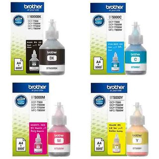 Brother BT5000  BT6000BK Genuine Ink Bottles colour For Brother T300,T500,T700W,T800W Printers