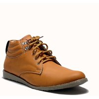 At Classic Men's Brown Lace-Up Casual Shoes