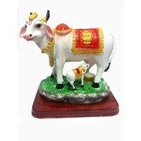 MATA KAMDHENU LAXMI COW ( GAU MATA ) WITH CALF IDOL STATUE