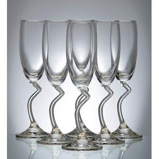 Ocean Salsa 165 ML Flute Champagne Glass - Set of 6