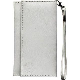 Jo Jo Wallet Case Cover for Salora Valumaxx E2 (White)