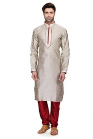 RG Designers Men's Full Sleeve Kurta Pyjama Set D6576Cream
