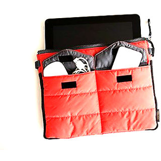 RED Gadget pouch and perfect for Tablets Dimen-H 21 cm W 28 cm Material -Nylon