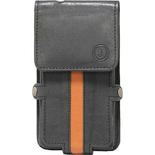 Jojo Holster for Micromax X330 (Black, Orange)