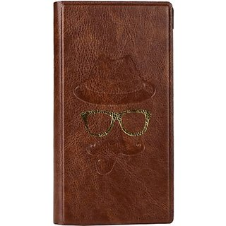 Jojo Wallet Case Cover for Huawei Y360 (Brown)