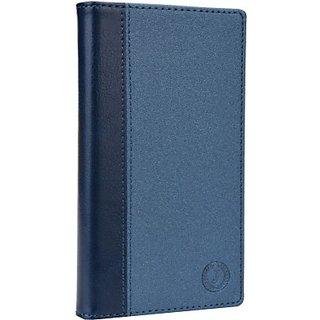 Jojo Wallet Case Cover for HTC Desire 320 (Dark Blue)